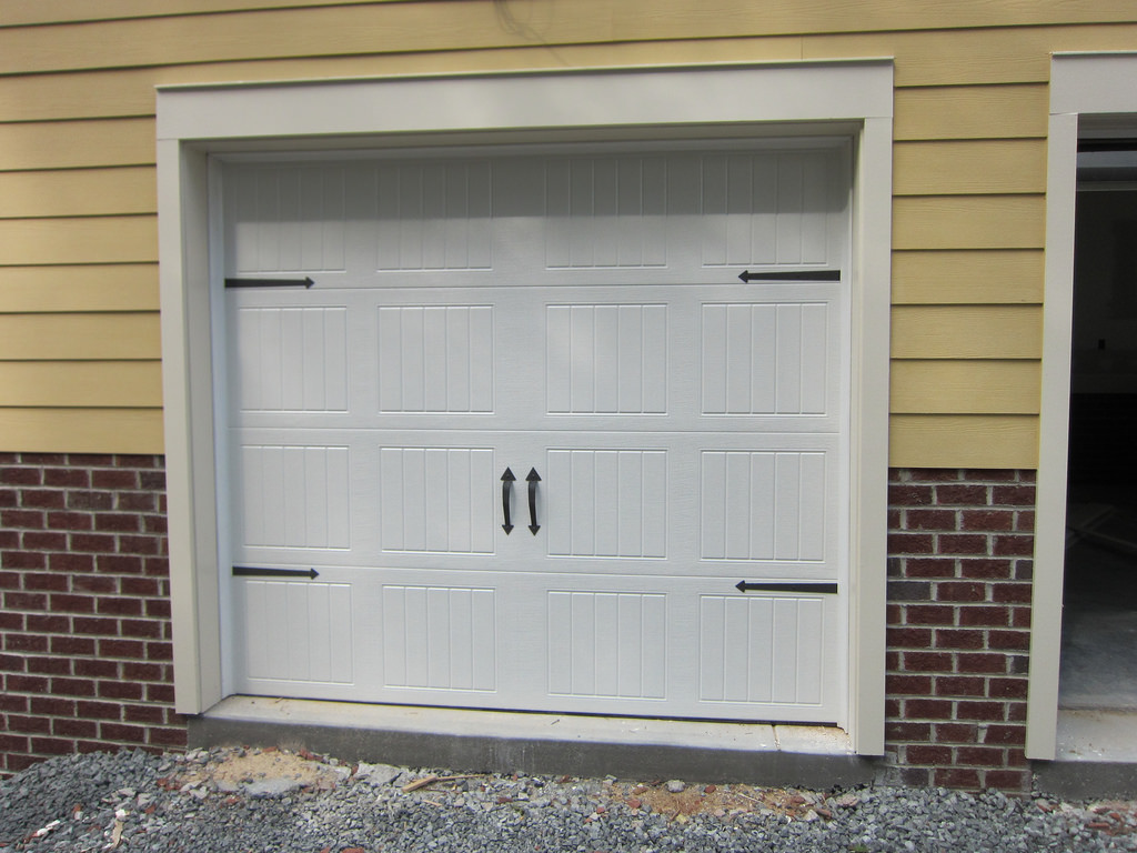 Carriage-style garage doors on a home