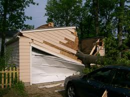 fallen tree on garage