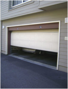 garage door half open